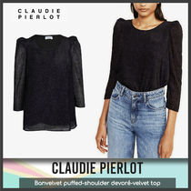 [Claudie Pierlot] Banvelvet puffed-shoulder top 送料関税込