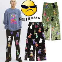 ★YOUTHBATH★VELOUR GRAPHIC PANTS_2色