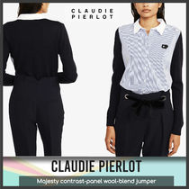 [Claudie Pierlot] Majesty contrast-panel jumper 送料関税込