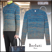 20W送料込 -Berluti- Cable Stitch Sweater With Shading Effect