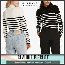 [Claudie Pierlot] Maurine striped cotton T-shirt 送料関税込