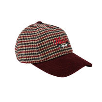 [WONDER VISITOR] 2020 Signature two-tone ball cap [Burgundy]