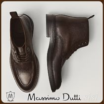 MassimoDutti♪LIMITED EDITION BROWN LEATHER BOOTS