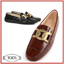 Tod's トッズ Kate Gommino moccasin クロコダイル柄 パンプス