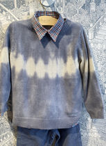 AW20_BONPOINT☆セーターTIEDYED_ブルー6.8A