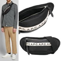 【A.P.C.】Banane Lucille Tape Logo Belt Bag 黒