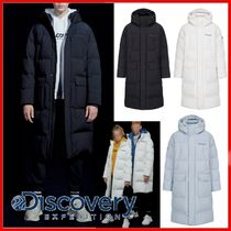 Discovery EXPEDITION(ディスカバリー) ダウンジャケット ◆DISCOVERY◆Barnsley Men's Big Logo Down Long Padded Coat◆