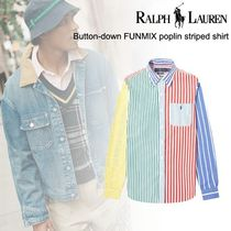 洒落感抜群◆POLO RALPH LAUREN◆ poplin striped shirt