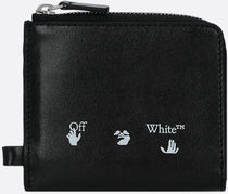 OFF WHITE◆aw20 SMOOTH LEATHER CHAIN WALLET