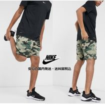 NIKE Training dry 5.0 shorts in all over green camo♪