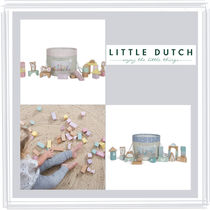【LITTLE DUTCH】 箱入り積み木セット♪  ★ピンク★ブルー