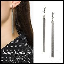 *SAINT LAURENT*LOULOU EARRINGS WITH CHAIN TASSELS