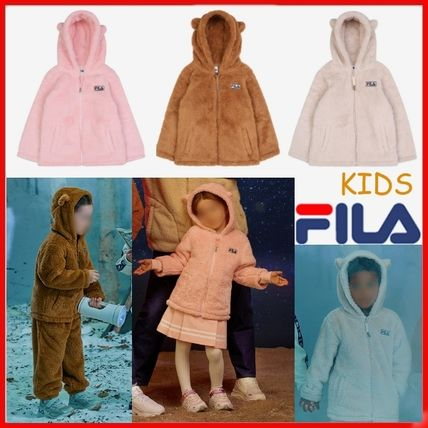 FILA キッズアウター ◆FILA KIDS◆Oversized Shearling Jacket◆UNISEX◆正規品◆