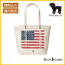 【Ralph Lauren】Distressed Flag Canvas Tote◆国内発送◆