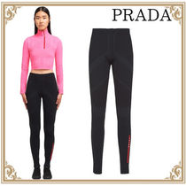 PRADA☆ スリムフィット TecRec Pique Nylon Pants Black
