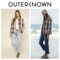 Outer known(アウターノウン) ブラウス・シャツ 【Outer known】レディース BLANKET シャツ-Earth Seaview