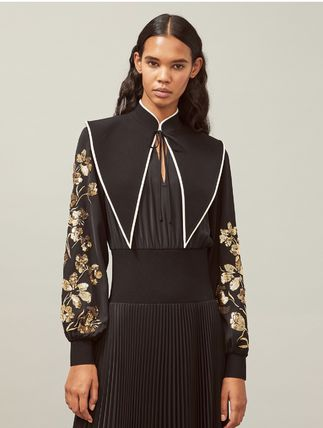 Tory Burch ワンピース Tory Burch REMOVABLE COLLAR EMBELLISHED DRESS(2)
