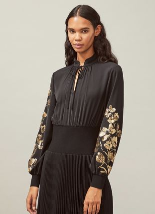 Tory Burch ワンピース Tory Burch REMOVABLE COLLAR EMBELLISHED DRESS(3)
