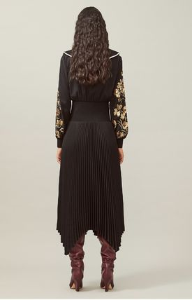 Tory Burch ワンピース Tory Burch REMOVABLE COLLAR EMBELLISHED DRESS(4)