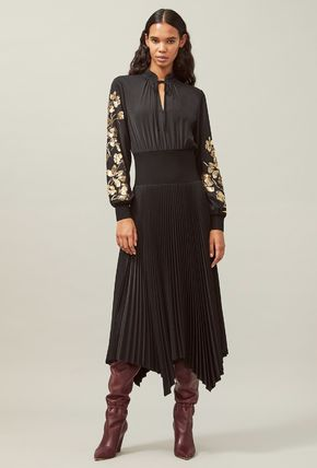 Tory Burch ワンピース Tory Burch REMOVABLE COLLAR EMBELLISHED DRESS(5)