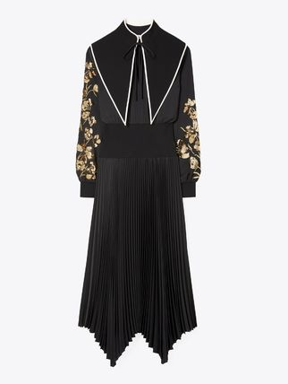 Tory Burch ワンピース Tory Burch REMOVABLE COLLAR EMBELLISHED DRESS(6)