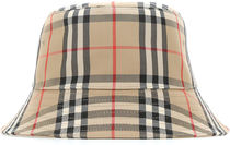 BURBERRY■定番 EMBROIDERED FABRIC BUCKET HAT