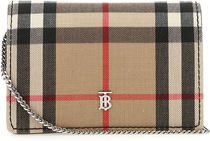 BURBERRY▲定番 EMBROIDERED FABRIC CARD HOLDER