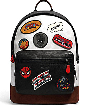 COACH x MARVEL☆WEST BACKPACK SIGNATURE CANVAS WITH PATCHES (Coach/バックパック・リュック) 60133933