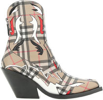BURBERRY○PRINTED E-CANVAS BOOTS