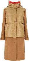 Burberry ☆TWO-TONE WOOL AND NYLON COAT