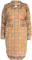 BURBERRY▲EMBROIDERED SILK AND COTTON CHEMISIER DRESS