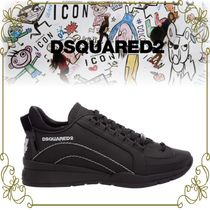 【DSQUARED2 限定生産 ブラックモデル】 551 Lether Sneakers