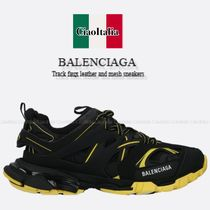BALENCIAGA Track faux leather and mesh sneakers