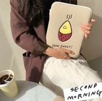 "AW 新デザイン 【韓国人気】""second morning"" ipad pouch"