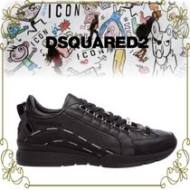 【DSQUARED2 ロゴ文字のステッチがお洒落】 551 Lether Sneakers