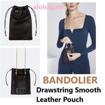 ☆Bandolier☆セレブ巾着ポーチDrawstring Smooth Leather Pouch