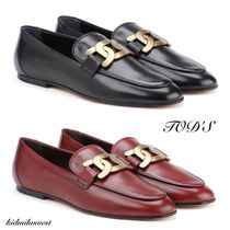 leather flat shoes☆スタイリッシュで無駄のないデザイン◎
