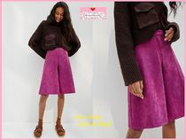 最安値保証*関税送料込【Anthro】Davina Faux Leather Culottes