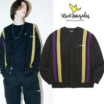 ★MARK GONZALES★Striped Charocal Cardigan