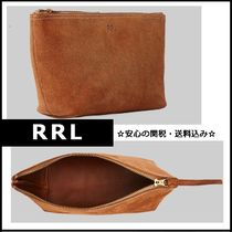 【RRL】大人気 シンプル Roughout Suede Pouch レザーポーチ