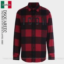 DSQUARED2 DSQUARED2 ICON CHECK FLANNEL SHIRT
