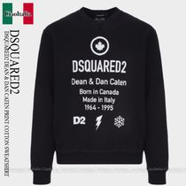 DSQUARED2 DSQUARED2 DEAN & DAN CATEN PRINT COTTON SWEATSHIRT