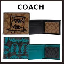 COACH☆財布/Wallet In Signature Canvas With Rexy By Guang Yu