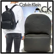 ★Calvin Klein★エンボス モノグラム バックパッ.ク★正規品★
