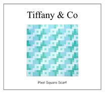 【TIFFANY】NEW! Pixel Square Scarf(L)☆