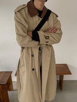 Pleddy Point Leather Trench Coat (2color)