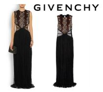 GIVENCHY☆Tulle-paneled sequin-embellished Chantilly lace