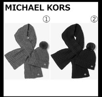 【MICHAEL KORS】Beanie and Scarf Set リブニットセット