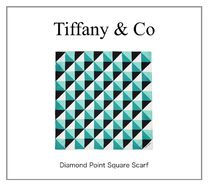 【TIFFANY】NEW! Diamond Point Square Scarf (S)☆