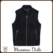 MassimoDutti♪CONTRAST SUEDE AND KNIT GILET